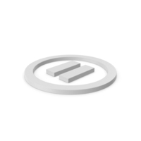 Pause Button Symbol PNG & PSD Images
