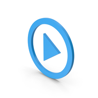 Symbol Play Button Blue PNG & PSD Images