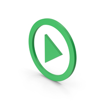 Symbol Play Button Green PNG & PSD Images