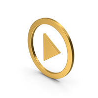Symbol Play Button Gold PNG & PSD Images
