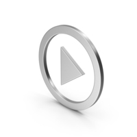 Symbol Play Button Silver PNG & PSD Images
