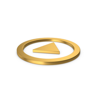 Gold Symbol Play Button PNG & PSD Images