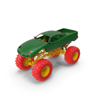 Monster Truck Red and Green PNG & PSD Images