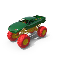 Monster Truck Green and Red PNG & PSD Images