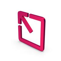 Symbol Expand Metallic PNG & PSD Images