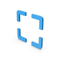 Symbol Fullscreen Blue PNG & PSD Images