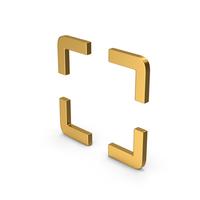 Symbol Fullscreen Gold PNG & PSD Images