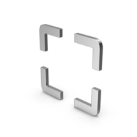 Symbol Fullscreen Silver PNG & PSD Images