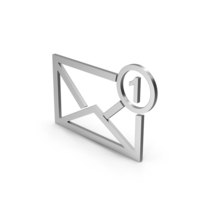 Symbol Missed Message Silver PNG & PSD Images
