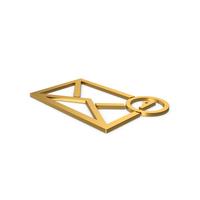 Gold Symbol Missed Message PNG & PSD Images