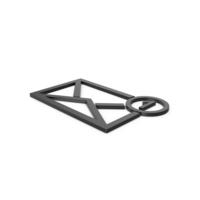 Black Symbol Missed Message PNG & PSD Images