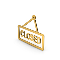 Symbol Closed Gold PNG & PSD Images