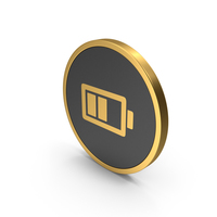 Gold Icon Battery PNG & PSD Images
