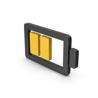Symbol Battery Yellow PNG & PSD Images