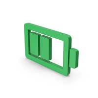 Symbol Battery Green PNG & PSD Images