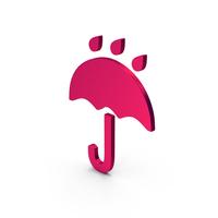 Symbol Umbrella Rain Metallic PNG & PSD Images