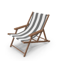 Beach Chair Black PNG & PSD Images
