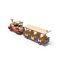 Trackless Red Touristic Train PNG & PSD Images