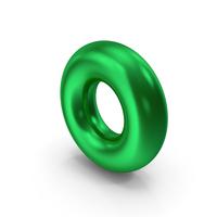 Torus Green Metallic PNG & PSD Images