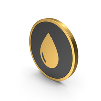 Gold Icon Water Drop PNG & PSD Images