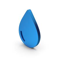 Symbol Water Drop Blue Metallic PNG & PSD Images