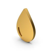 Symbol Water Drop Gold PNG & PSD Images