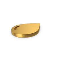 Gold Symbol Water Drop PNG & PSD Images