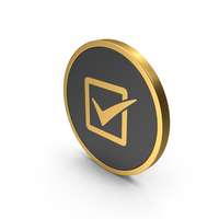 Icon Check Gold PNG & PSD Images