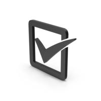 Symbol Check Box Black PNG & PSD Images