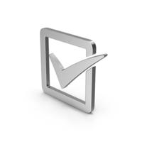 Symbol Check Box Silver PNG & PSD Images
