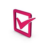 Symbol Check Box Metallic PNG & PSD Images