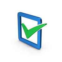 Check Box Blue Green Metallic PNG & PSD Images