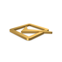 Gold Symbol Check Box PNG & PSD Images