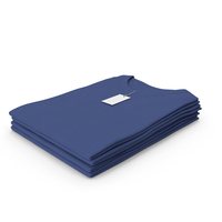Female Crew Neck Folded Stacked With Tag Dark Blue PNG & PSD Images