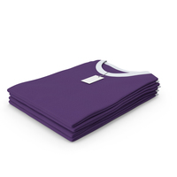 Female Crew Neck Folded Stacked With Tag White and Purple PNG & PSD Images