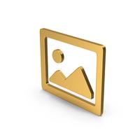 Symbol Image Gold PNG & PSD Images