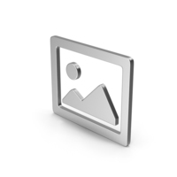 Symbol Image Silver PNG & PSD Images