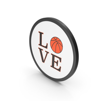 Icon Basketball Love PNG & PSD Images