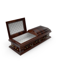 Coffin Made Out Of Wood And Gold PNG & PSD Images