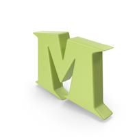 M Light Green PNG & PSD Images