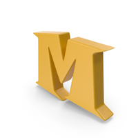 M Yellow PNG & PSD Images