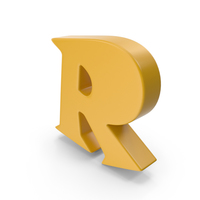 R Yellow PNG & PSD Images