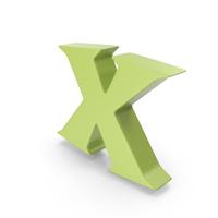 X Light Green PNG & PSD Images