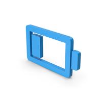 Symbol Low Battery Blue PNG & PSD Images