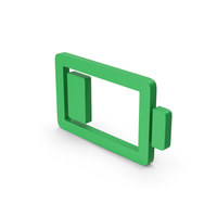 Symbol Low Battery Green PNG & PSD Images