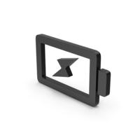 Symbol Charging Battery Black PNG & PSD Images