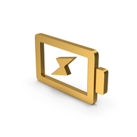 Symbol Charging Battery Gold PNG & PSD Images