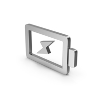 Symbol Charging Battery Silver PNG & PSD Images