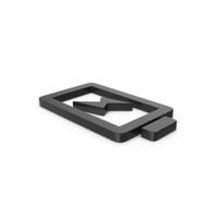Black Symbol Charging Battery PNG & PSD Images