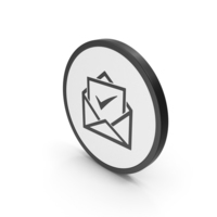Icon Envelope With Check Mark PNG & PSD Images